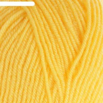 Пряжа bambino marvel 25% шерсть, 75% акрил 130м/50гр (9005 желтый)