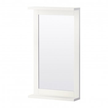Зеркало с полкой, цвет белый силверон