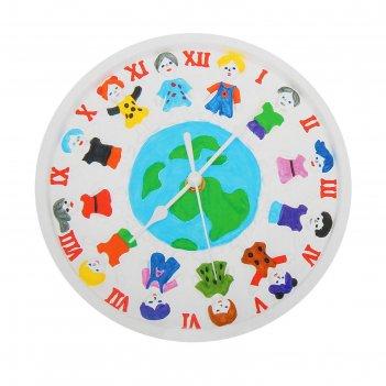 Роспись по гипсу, серия создай часы дети земли, краски 8 цветов по 2 мл