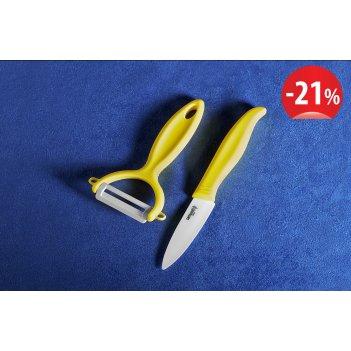 Набор фруктовый нож и овощечистка samura eco-ceramic skc-011yl