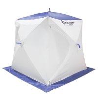 Палатка призма 150 (3-сл) стежка 210/100 стандарт в95т1, бело-синяя