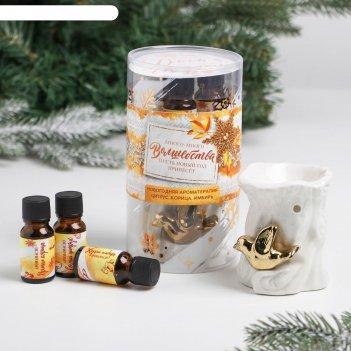 Подарочный набор «волшебства в новом году», аромалампа, аромамасло 3 шт