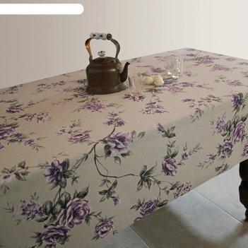 Клеенка столовая alba, 140 см, рулон 20 п.м., 421900 вальс цветов фиол.