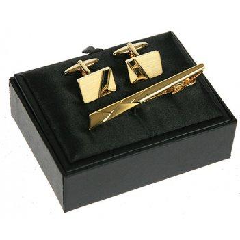 Подарочный набор: заколка для галстука, запонки