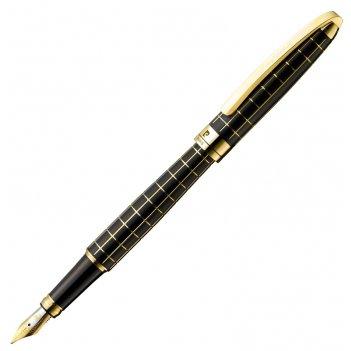 Перьевая ручка pierre cardin progress, цвет - черный и золотистый. перо -