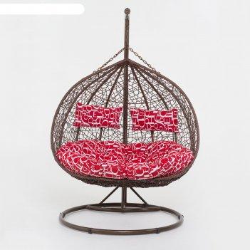 Подвесное кресло, цвет коричневый, в наборе подушка, 45-004-04