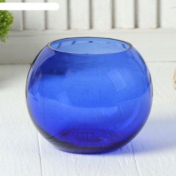 Ваза-шар сфера синяя, 1,2 л