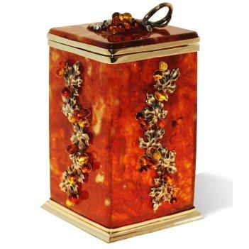 "Коробочка для чая ""виноград"" из янтаря"