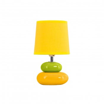 Настольная лампа 46733yl e14 40вт желтый 14x14x22 см