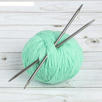 Спицы для вязания, прямые, d = 5 мм, 20 см, 2 шт