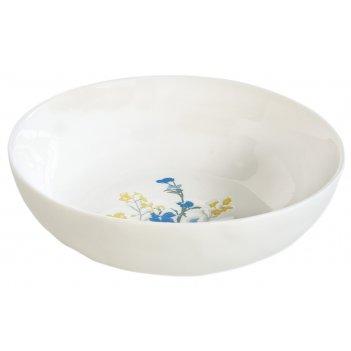 Тарелка суповая (жёлтый) луговые цветы без инд.упаковки
