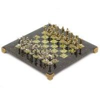 Шахматы сократ камень змеевик доска 28х28 см
