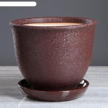 Кашпо глория 7 л, шоколад  шёлк
