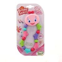 Развивающая игрушка-прорезыватель гусеничка розовая 9124