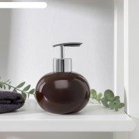 Дозатор для жидкого мыла карамель, цвет коричневый