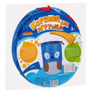 Корзина для хранения игрушек сова от bondibon