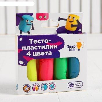Набор для детской лепки «тесто-пластилин 4  цвета» ta1082