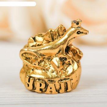 Наперсток сувенирный «урал» зол., 3,4 х 3,9 см