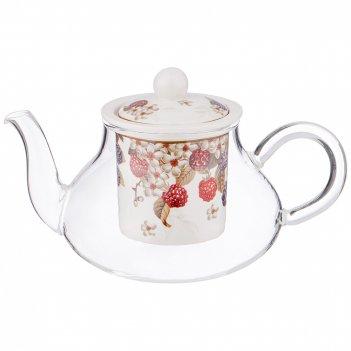 Чайник стеклянный lefard ежевика 400 мл