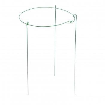 Кустодержатель, d = 50 см, h = 100 см, ножка d = 0.3 см, металл, зелёный