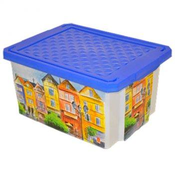 Ящик для хранения игрушек optima город 2584bq-гр
