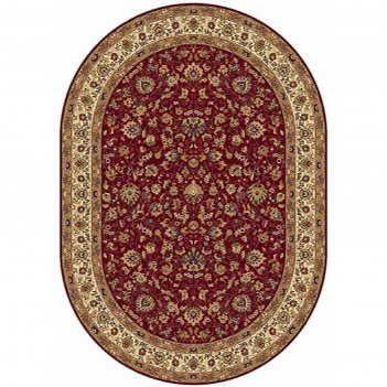 Овальный ковёр buhara 5471, 200 х 285 см, цвет red