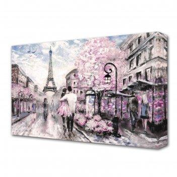 Картина на холсте любовь в париже