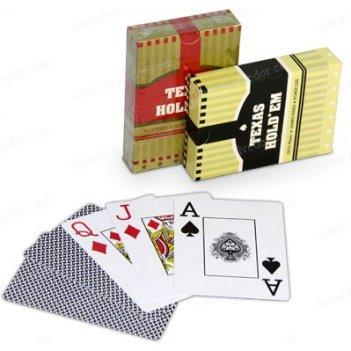 Пластиковые игральные карты для покера texas holdem