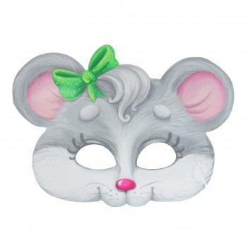 Маска карнавальная мышка, 24,1 х 17,8 см