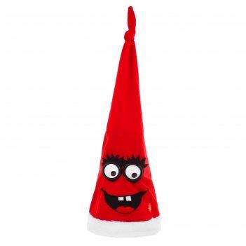 Карнавальная шляпа механическая глазки с ресничками, красная