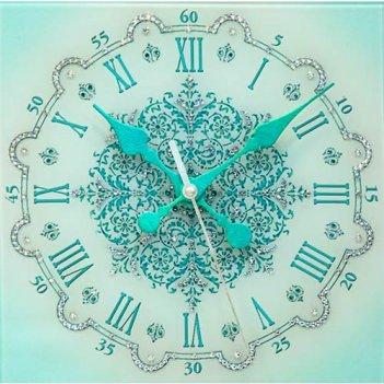 Картина сваровски - часы снежинка