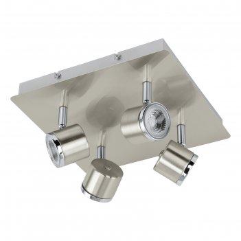 Светильник pierino 4x5вт led никель 24x12см