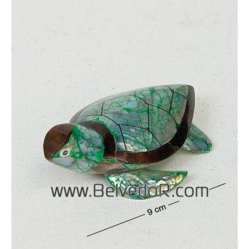 В1-0357 статуэтка черепаха перламутр