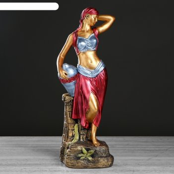 Сувенир гречанка красное платье, 57 см