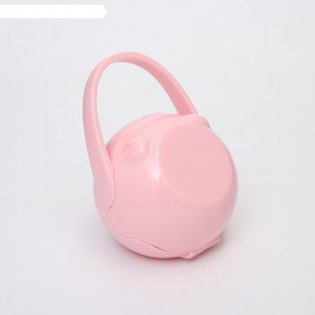 Контейнер для сосок и пустышек мишка, цвет розовый