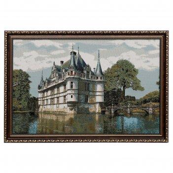 Гобеленовая картина 55х35см замок азаи евро