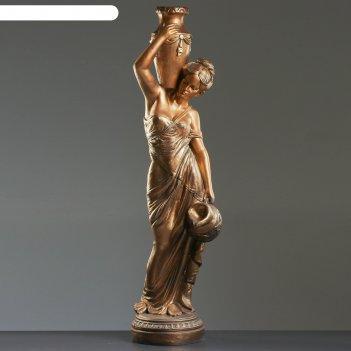 Садовая фигура девушка с кувшином большая, бронза