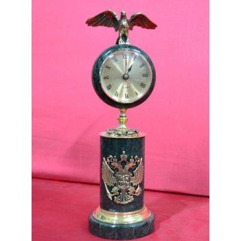 Часы с фигуркой орла из мрамора 28х9,5 см