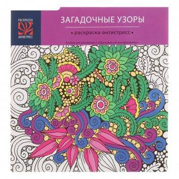 Альбом д/рис 24л раскраска-антистресс с образцом обл мел карт уф-лак