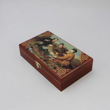 Настольная игра домино  охотники на привале  (sa-dm-006)