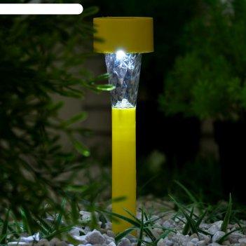 Фонарь садовый на солнечной батарее трапеция, 31 см, d=4.5 см,1 led,пласти