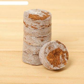 Таблетки кокосовые  d=30 мм в оболочке, (набор 6 шт), greengo