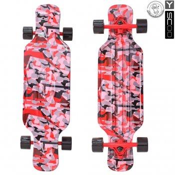 408-ch скейтборд y-scoo longboard shark tir 31″ пластик 79х22 с сумк