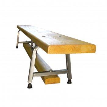 Гимнастическая скамейка на металлических ножках 2 м
