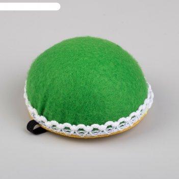 Игольница на руку диаметр 8см зеленая юв