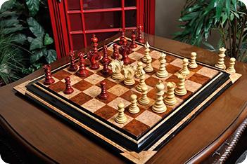 Эксклюзивные резные шахматы ручной работы савано, падук, самшит 50см