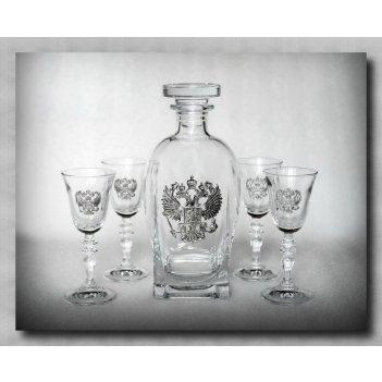 Набор для водки с рюмками держава арт. ншт307др-54