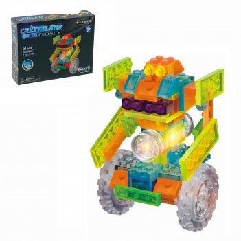 Конструктор световой робот дройд, 6 вариантов сборки, 91 деталь