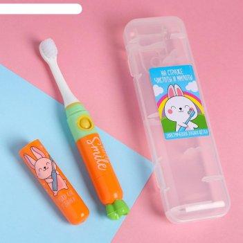 Электрическая зубная щетка «на страже чистоты и милоты», lp-003, 19,2 х 5,
