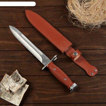 Сувенирный штык-нож, красная рукоять